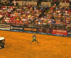 (.emily.) Tags: funny singing audience clown crowd arena dirt rodeo pbr tulsa bullriding bonjovi barrelman flintrasmussen builtfordtoughseries