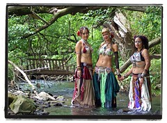 water nymphs (Doc macaSTAT) Tags: woman sexy feet wet water beautiful flesh creek river foot back dance shiny rocks stream toes pretty erotic minolta skin sister feminine sony sensual belly beercan barefoot bellydance alpha middle dslr eastern gypsy seductive soles wi sari f4 shall a100 defiant elegance driftless viroqua macasaet macastat driftlesstribal