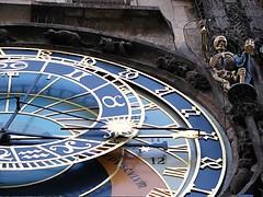 Astronomical Clock and Skeleton / Orloj a kostra (P1140152) (masinka) Tags: old detail clock square skeleton town republic czech prague praha astronomical republika staromestske ceska orloj namesti hodiny kostra