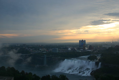 Niagara Falls at Sunrise over the American Side
