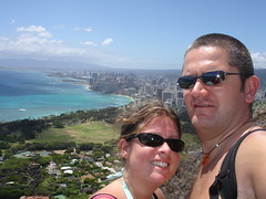 Us on Diamond Head Crater