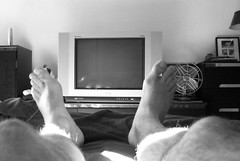 Silent Window (Tomitheos) Tags: sleeping portrait bw toronto male feet me monochrome television fan tv bedroom toes flickr image pic monochromatic daily september tele hd plasma waking now today unconscious myfeet 2007 flatscreen ontariocanada blackwhitephotos electrohome tomitheos futab mediame griffinpoetryprize darkgreygraywallroom tomlinardos poemspoetrylyrics photographwithapoem songstopics