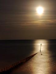 Moonlight shadow (~Glen B~) Tags: uk longexposure shadow sea england moon art night dark britain cleveland stray moonlight groyne teesside redcar groynes bbok redbubble:id=2323751moonlightshadow
