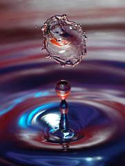 Standing.Under.Standing (Jonny Jelinek) Tags: droplets drop clash disk colored coloured bunt wassertropfen whirl waterinmotion scheibe fallingdrops fallendetropfen adroplife farbigtropfen