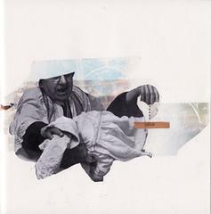 Hand (PerisianPowerhouse) Tags: white black colour collage dead mixed media hand holy priest selotape letroset
