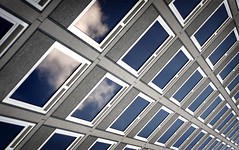 (nitedojo) Tags: windows sky urban building clouds reflections geometry angles gimp fave linux tu informatik braunschweig hochhaus multistorey architectur nitedojo