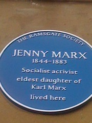 Photo of Jenny Marx blue plaque