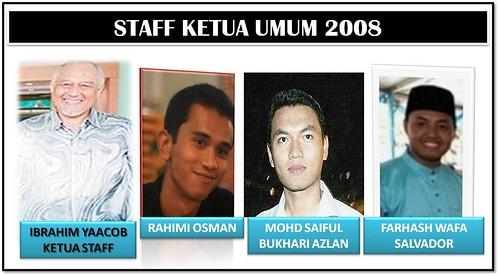 STAFF KETUA UMUM 2008-1