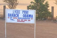 They love Obama in Africa (2) (Karin.Lakeman) Tags: africa school sign obama bord ouagadougou burkinafaso prive barackobama barack lycee bordje obamania