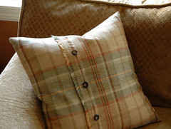 Autumn decor-plaid pillow (kizilod2) Tags: blue autumn brown green fall wool beige rust aqua tan sage decorating plaid decor