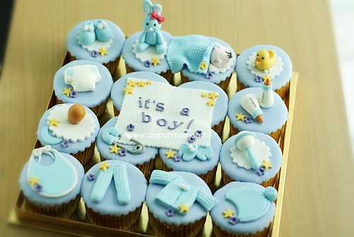 Baby Boy Welcoming Cupcakes