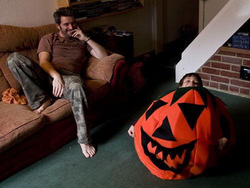 Dylan is Pumpkin Fred - Copyright R.Weal 2010