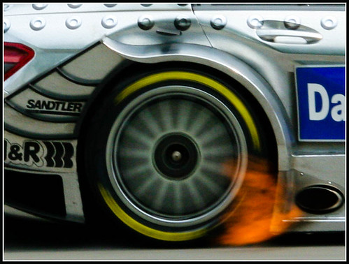 DTM car on fire !