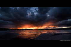 Starting Sydney (markdanielowen) Tags: bridge sunset sky orange tower beach rose skyline clouds canon buildings reflections fire photography bay twilight sand bravo colours sundown harbour mark tide low sydney dramatic vivid australia nsw newsouthwales lowtide owen drama harbourbridge soe sydneyharbour centerpoint firey markowen rosebay firesky sydneyskyline centerpointtower flickrsbest fireysky anawesomeshot markdanielowen markowenphotography