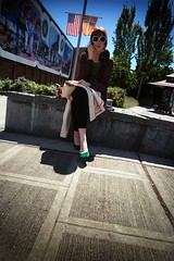 506|flickr|337 (irq506) Tags: seattle street leica sky urban blackandwhite usa distortion color colour clouds downtown mannequins shadows pavement cosina voigtlander streetphotography rangefinder social chrome r3a 506 contemplative m6 m6ttl contemplation distort chromes rd1 devtankcom triggerwinder