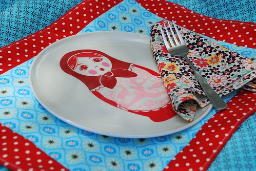 Placemat and napkin set