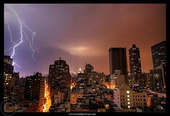 Electric Night (Arnold Pouteau's) Tags: nyc newyorkcity night manhattan thunderstorm lightning mywinners arnoldpouteau 50ms