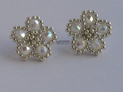 Flores japonesas (Jaluna) Tags: white flores blanco bride bo earrings bianchi novia pendientes