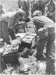 Field Medics Treating Japanese Civilians (afigallo) Tags: usmc war pacific wwii ww2 marines saipan