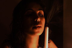 When the lights go off (Manas Saran) Tags: portrait lowlight candle smoke candlelight canon50mmf18 flickrelite