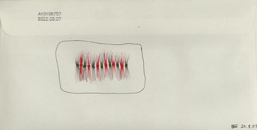 Kirsty Hall - The Diary Project 232, envelope drawings