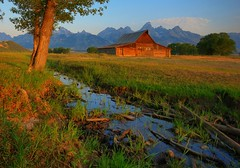 Another Morning at the Barn (Jeff Clow) Tags: ranch morning mountains barn bravo stream searchthebest wyoming hdr grandtetonnationalpark takeabow naturesfinest blueribbonwinner 3xp magicdonkey jacksonholewyoming moultonbarn mywinners nikond80 infinestyle excellentscenic cjeffrclowallrightsreserved