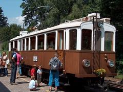 Trenino Ritten / Renon sul altopiano di Renon/Ritten in Alto Adige, Italia