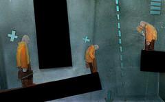 illustration for sekretfirmi magazine (gonduras) Tags: urban color art texture collage modern illustration digital photoshop magazine handy paper 3d mixed media experimental post 666 structure future satan animation present anarchy intuitive conceptual noise past 2d complex mayhem avant stopmotion deform avantguarde guarde gonduras jitomirsky zhitomirsky
