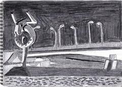 Le minotaure de besancon (Marius Dupont) Tags: france statue sketch drawing dessin pont besancon doubs minotaure