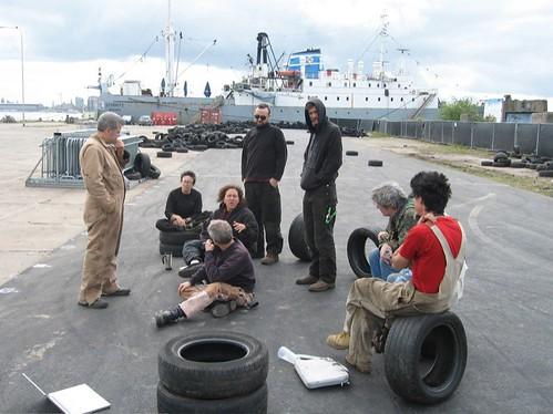 Site crew meeting