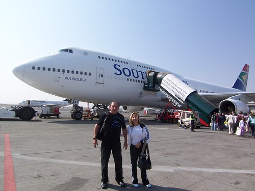 My parents and our Jumbo jet