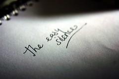 find a refuge in the easy silence (..dri..) Tags: blanco writing peace negro paz silence silencio dixiechicks escritura easysilence