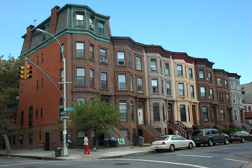 Brownstones on Quincy Street east of Bedford Avenue