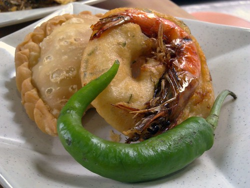Curry Puff and a Prawn Thing