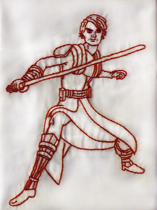 [Redwork] Clone Wars Anakin