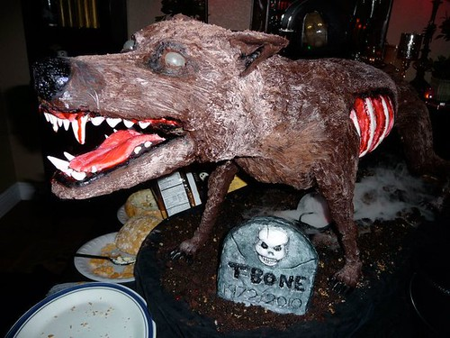 Zombie Dog Cake