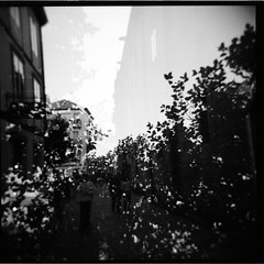 * (...storrao...) Tags: trees people blackandwhite bw 6x6 film mediumformat square holga spain espanha exposure fuji doubleexposure pb double santiagodecompostela praça neopan analogue filme pretoebranco week43 120mm analógico holgagraphy selfdeveloped onfilm fujineopan project52 ilfordilfotechc film:iso=400 film:brand=fuji neopan400pro epsonv500photo storrao sofiatorrão developer:brand=ilford film:name=fujineopan400 developer:name=ilfordilfotechc filmdev:recipe=6034