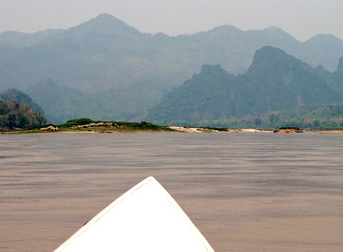Speedboat Up Mekong River