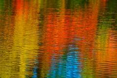 Deer Creek Reflections (J Henry G) Tags: usa art abstractart fallcolors waterreflections pentaxk7