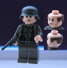 Hair modification (ORRANGE.) Tags: hair lego helmet german modification orrange luger stahlhelm brickarms