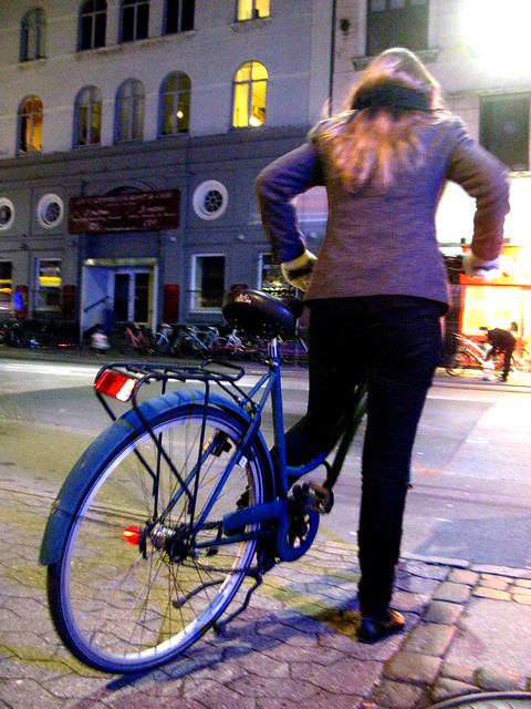 Friday Night Blue Bicycle