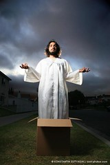 Jesus (Konstantin Sutyagin) Tags: street portrait religious christ box religion jesus dramatic christian christianity strobist