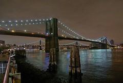 Two Bridges (Alexandre Ponsin) Tags: newyork night gallery cityscape wideangle brooklynbridge manhattanbridge eastriver dxo 1224 pier17 k10d