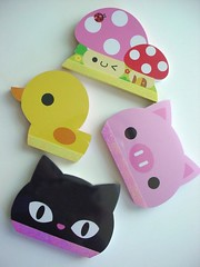 Die-Cut  Sweetness (Warm 'n Fuzzy) Tags: cute mushroom cat piggy duck collection memo kawaii stationery kamio diecut diecutmemo