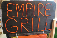 Empire Grill Sign (herzogbr) Tags: sign parade neonsign float chelmsford paradefloat chelmsfordpubliclibrary empirefalls empiregrill richardrusso chelmsfordlibrary