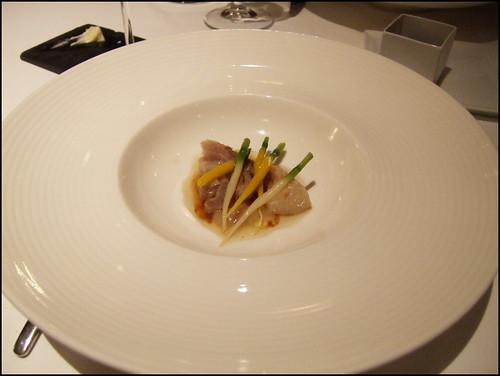 Manresa (Los Gatos) - Carrots w/ beef tendon, seaweed pistou
