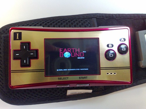 GBA Micro Famicom edition with EarthBound Zero