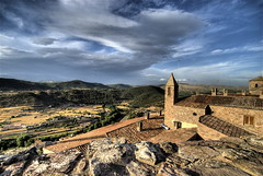 Castle of Cardona (wili_hybrid) Tags: old city trip travel summer vacation sky urban holiday building castle beautiful rock architecture clouds landscape geotagged outside outdoors photography photo yahoo high spain nikon europe flickr european exterior dynamic photos outdoor picture july pic roadtrip espana journey vista wikipedia imaging summertime d200 mapping range geotag tone hdr hdri 2007 cardona parador photomatix nikond200 tonemapped tonemapping highdynamicrangeimaging year2007