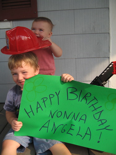 Image of Miles and tess wishing Nonna all the best on her Birthday
