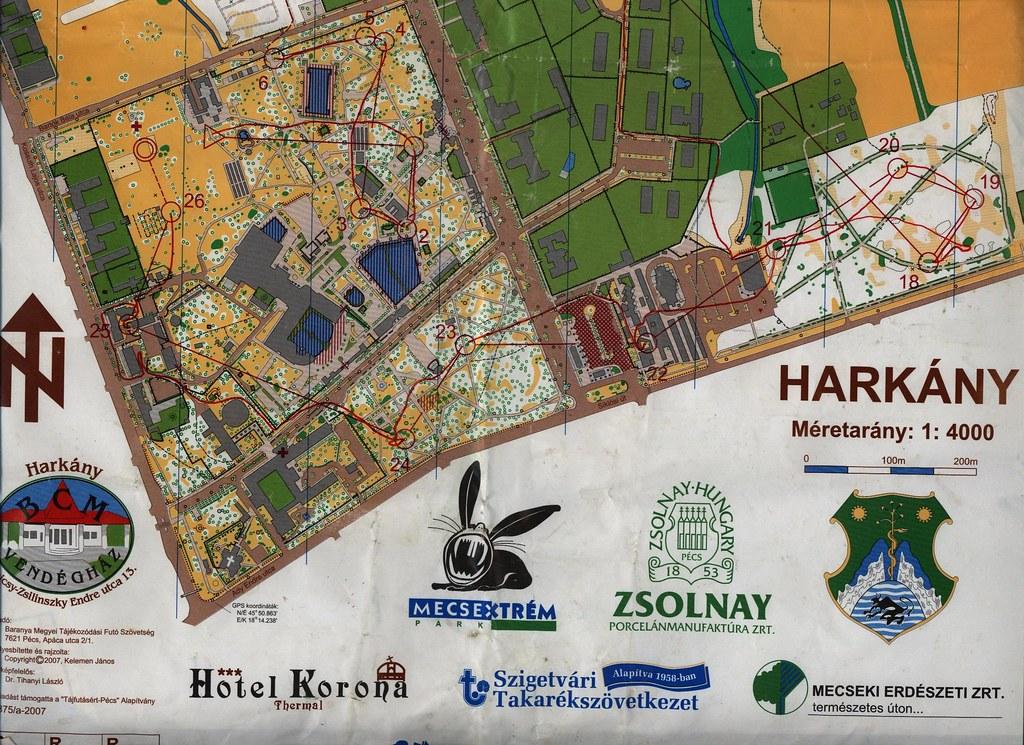 Hungária Kupa 3. nap - Harkány - Térkép